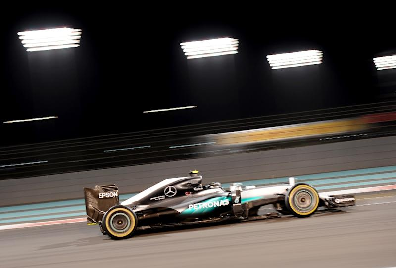 Nico Rosberg, who has won nine races this year, needs only to finish on the podium at the Abu Dhabi Grand Prix to clinch his maiden championship (AFP Photo/Mohammed Al-Shaikh)
