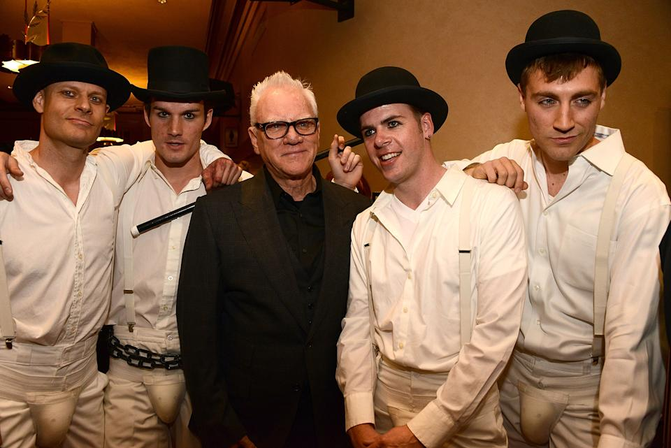 GLENDALE, CA - APRIL 01:  Malcolm McDowell attends the Prospect House Entertainment and Glendale Arts presents Malcom McDowell Series Of Q&A Screenings Presents