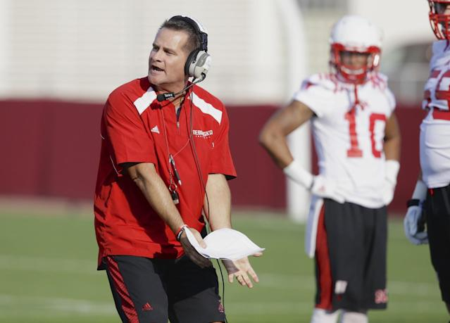 Tim Beck spent seven seasons at Nebraska before a two-year stint with Ohio State. Now he's reportedly headed to Texas. Nebraska offensive coordinator Tim Beck gestures during Nebraska's first day of NCAA college football practice in Lincoln, Neb., Monday, Aug. 4, 2014. (AP Photo/Nati Harnik)