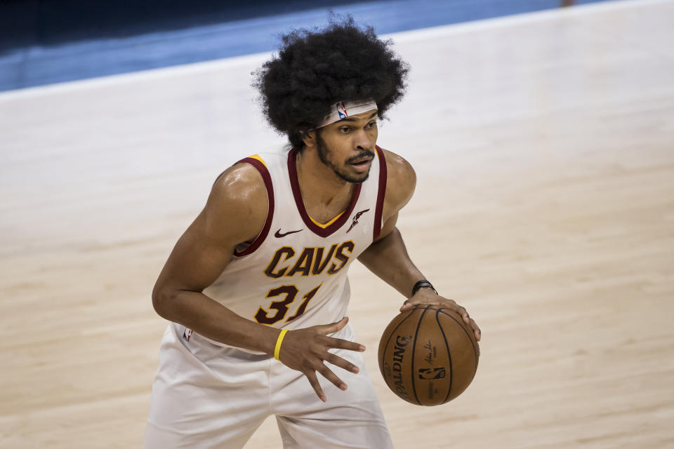 Jarrett Allen will reportedly earn $100 million from the Cleveland Cavaliers. (Scott Taetsch/Getty Images)