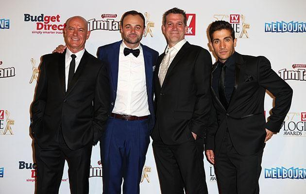 With the cast of House Husbands at the Logies. Source: Getty