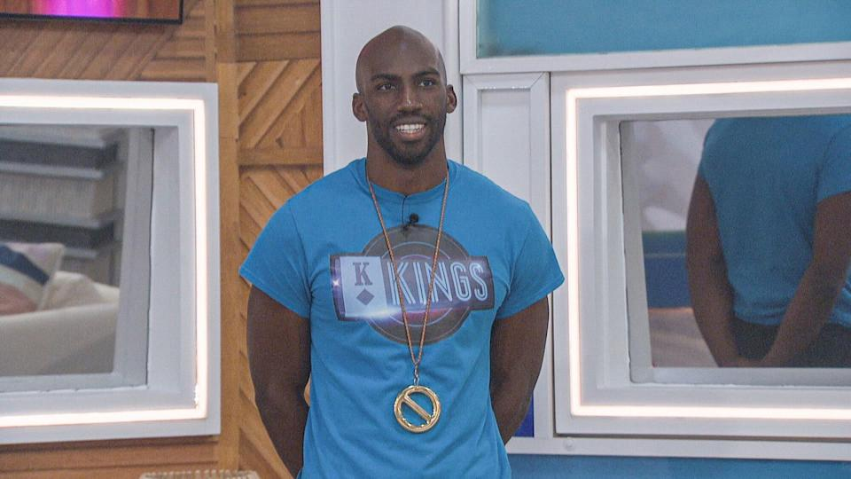Following a live double eviction, two Houseguests are evicted and interviewed by Host Julie Chen Moonves. Remaining Houseguests compete for power in the next Head of Household on BIG BROTHER Thursday, Sept 9 (8:00 – 9:01 PM ET/PT on the CBS Television Network and live streaming on P+. Pictured: Xavier Prather Photo: CBS ©2021 CBS Broadcasting, Inc. All Rights Reserved