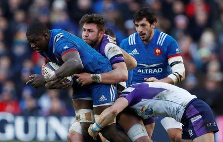 Rugby Union - Six Nations Championship - Scotland vs France - BT Murrayfield, Edinburgh, Britain - February 11, 2018 France's Yacouba Camara in action Action Images via Reuters/Lee Smith
