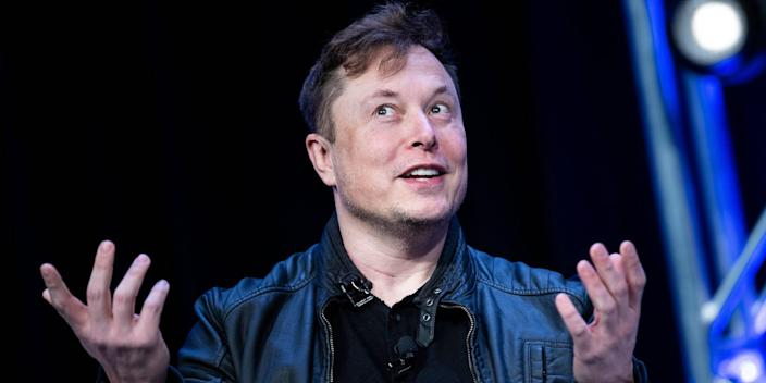 Elon Musk speaks during the Satellite 2020 at the Washington Convention Center on March 9, 2020, in Washington, DC.