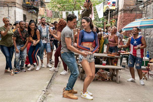 PHOTO: Anthony Ramos as Usnavi and Melissa Barrera as Vanessa in Warner Bros. Pictures' film, 'In the Heights.' (Macall Polay/Warner Bros.)
