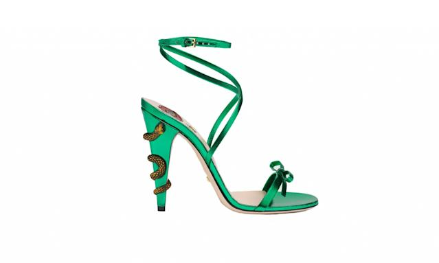 "<p>Leather crisscross sandal, $950, <a href=""https://www.gucci.com/us/en/pr/women/womens-shoes/womens-sandals/leather-crisscross-sandal-p-452769B8B003804?position=26&listName=ProductGridComponent&categoryPath=Women/Womens-Shoes/Womens-Sandals"" rel=""nofollow noopener"" target=""_blank"" data-ylk=""slk:gucci.com"" class=""link rapid-noclick-resp"">gucci.com</a> </p>"