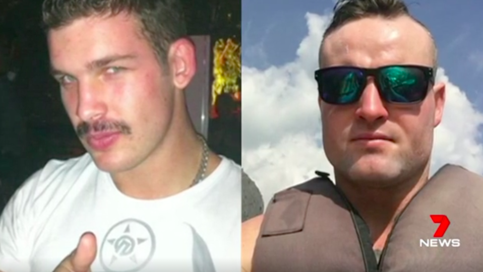 The accused, Milo Wild (left), and Jordan Byrne (right) are believed to have dated the same woman. Source: 7 News
