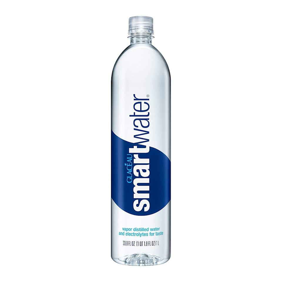 """One of the single-easiest ways to get glowing skin is to stay hydrated, so you might as well stay stocked up. $2, Amazon. <a href=""""https://www.amazon.com/smartwater-vapor-distilled-premium-bottle/dp/B000WGBH1S/ref=sr_1_1_0o_fs?"""" rel=""""nofollow noopener"""" target=""""_blank"""" data-ylk=""""slk:Get it now!"""" class=""""link rapid-noclick-resp"""">Get it now!</a>"""