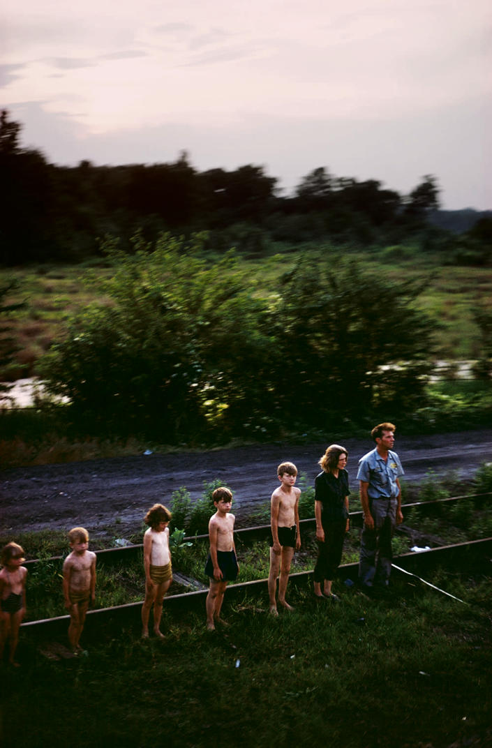 """<p>Untitled from the series """"RFK Funeral Train"""" 1968. (© Paul Fusco/Magnum Photos, courtesy of Danziger Gallery) </p>"""