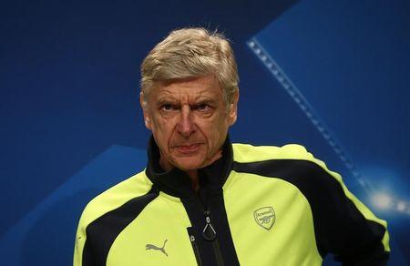 Arsenal manager Arsene Wenger during the press conference