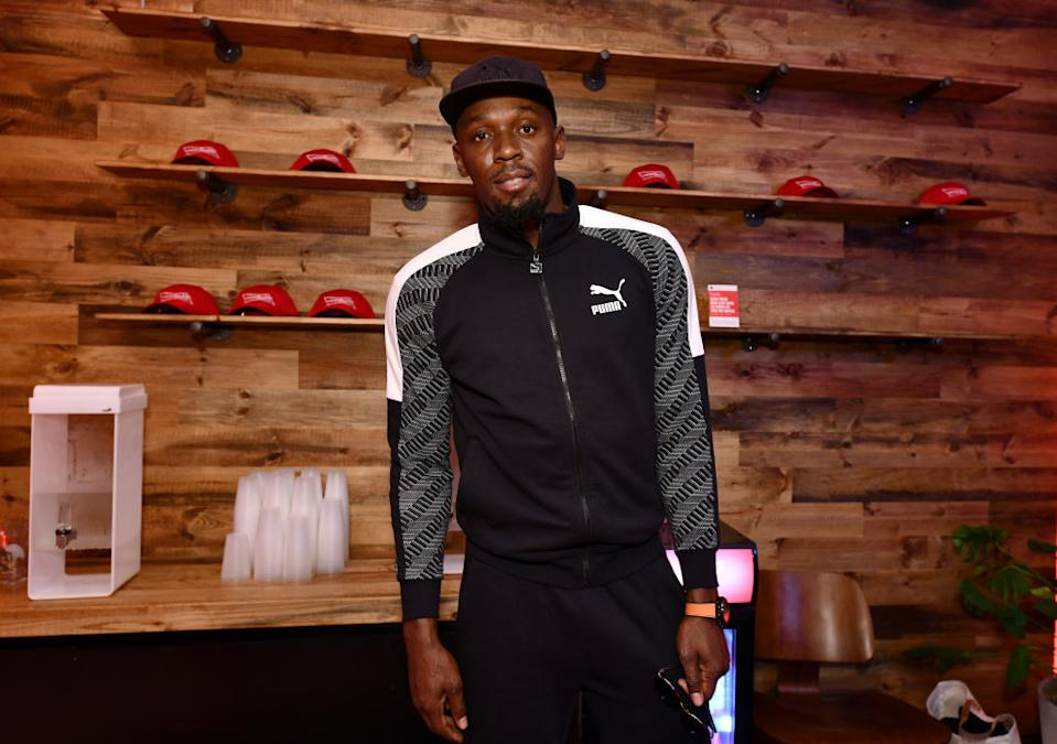 Usain Bolt has given his daughter a truly epic baby name, pictured here in February 2020. (Photo by Noam Galai/Getty Images for BudX)