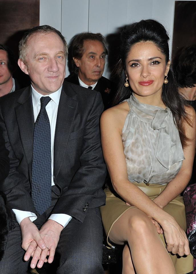 PARIS, FRANCE - MARCH 05:  Francois-Henri Pinault and Salma Hayek attend the Yves Saint-Laurent Ready-To-Wear Fall/Winter 2012 show as part of Paris Fashion Week on March 5, 2012 in Paris, France.  (Photo by Pascal Le Segretain/Getty Images)