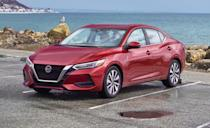 """<p>One of the largest small cars on this list, the <a href=""""https://www.caranddriver.com/nissan/sentra"""" rel=""""nofollow noopener"""" target=""""_blank"""" data-ylk=""""slk:Nissan Sentra"""" class=""""link rapid-noclick-resp"""">Nissan Sentra</a> is all-new for the 2020 model year and the compact sedan has improved its game. Sharp new bodywork, which imitates the brand's larger Altima and Maxima models, gives the Sentra the look of something more expensive than it is. A redesigned interior features higher-quality materials and finer details. There's more cabin space as well, along with more standard technology and a longer list of driver-assistance features. </p><p>A new platform and suspension have improved ride quality and handling and its new engine, a naturally aspirated 2.0-liter four-cylinder, is more powerful, and delivers better fuel economy, 29 mpg city and 39 mpg highway. With 149 horsepower and a standard CVT automatic, this front driver is still one of the slower cars in its class, reaching 60 mph in 9.2 seconds, but its price is right, and according to owners surveyed by JD Power, the quality is there. The Sentra's base price is just over $20,000.</p>"""