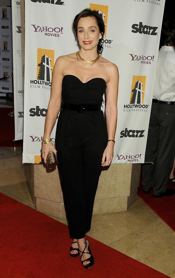 "<a href=""http://movies.yahoo.com/movie/contributor/1800019287"">Kristin Scott Thomas</a> at the 12th Annual Hollywood Film Festival Awards Gala in Beverly Hills - 10/27/2008"