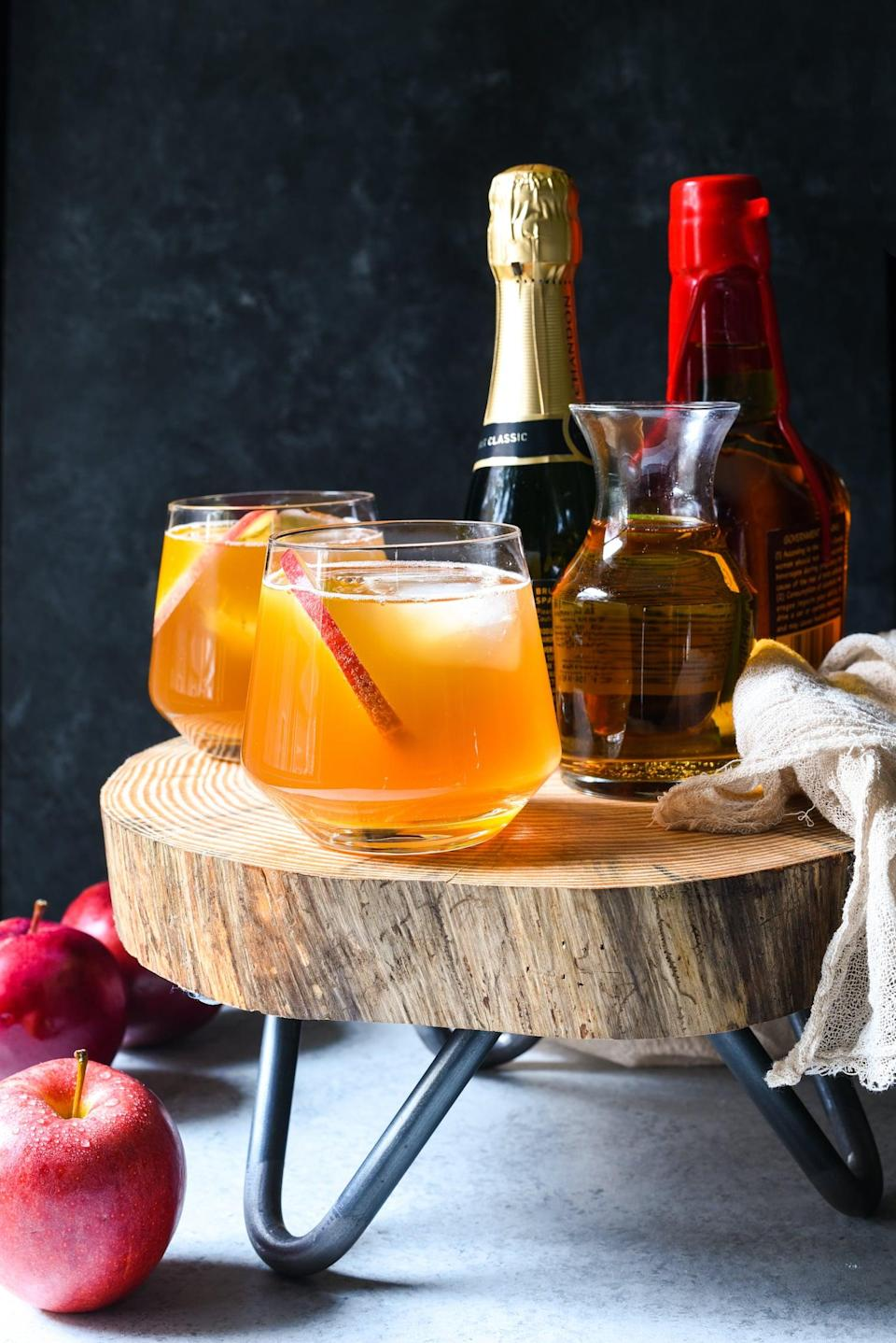 """<p>Add a kick to your apple cider when you whip up this boozy recipe. With only four ingredients (Champagne, apple cider, ginger ale, and bourbon), you'll be making this for more than just Fat Tuesday.</p> <p><strong>Get the recipe</strong>: <a href=""""https://foxeslovelemons.com/bourbon-apple-cider-punch/"""" class=""""link rapid-noclick-resp"""" rel=""""nofollow noopener"""" target=""""_blank"""" data-ylk=""""slk:bourbon apple-cider punch"""">bourbon apple-cider punch</a> </p>"""