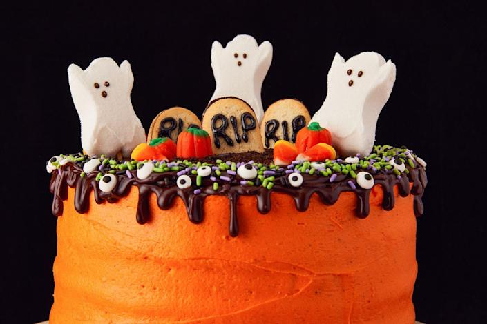 """<p>We know Halloween is all about the candy, but that doesn't mean you can't have your cake and eat it, too. These easy recipes are guaranteed to be a hit at parties, and definitely spook up the mood around the house as you gear up for Hallow's Eve. Don't stop there, delight little ghouls with <a href=""""https://www.delish.com/holiday-recipes/halloween/g2172/halloween-cake-cupcake-recipes/"""" rel=""""nofollow noopener"""" target=""""_blank"""" data-ylk=""""slk:spooky-cute Halloween cupcakes"""" class=""""link rapid-noclick-resp"""">spooky-cute Halloween cupcakes</a>, celebrate <a href=""""https://www.delish.com/holiday-recipes/halloween/g1335/dia-de-los-muertos-day-dead-party-foods/"""" rel=""""nofollow noopener"""" target=""""_blank"""" data-ylk=""""slk:day of the dead"""" class=""""link rapid-noclick-resp"""">day of the dead</a> or and just enjoy a <a href=""""https://www.delish.com/holiday-recipes/halloween/g1533/pumpkin-cakes/"""" rel=""""nofollow noopener"""" target=""""_blank"""" data-ylk=""""slk:pumpkin that's really a cake"""" class=""""link rapid-noclick-resp"""">pumpkin that's really a cake</a>—all in our collection of <a href=""""http://www.delish.com/holiday-recipes/halloween/"""" rel=""""nofollow noopener"""" target=""""_blank"""" data-ylk=""""slk:fun Halloween foods"""" class=""""link rapid-noclick-resp"""">fun Halloween foods</a>.</p>"""