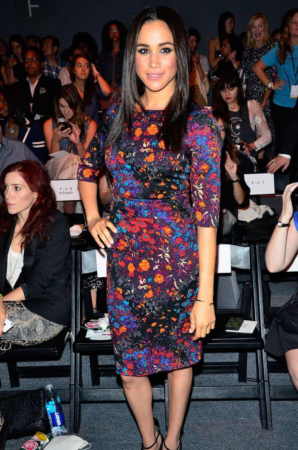<p>Years earlier in 2013, Meghan rocked a dress with a similar vibe at the Tracy Reese show during New York Fashion Week. </p>