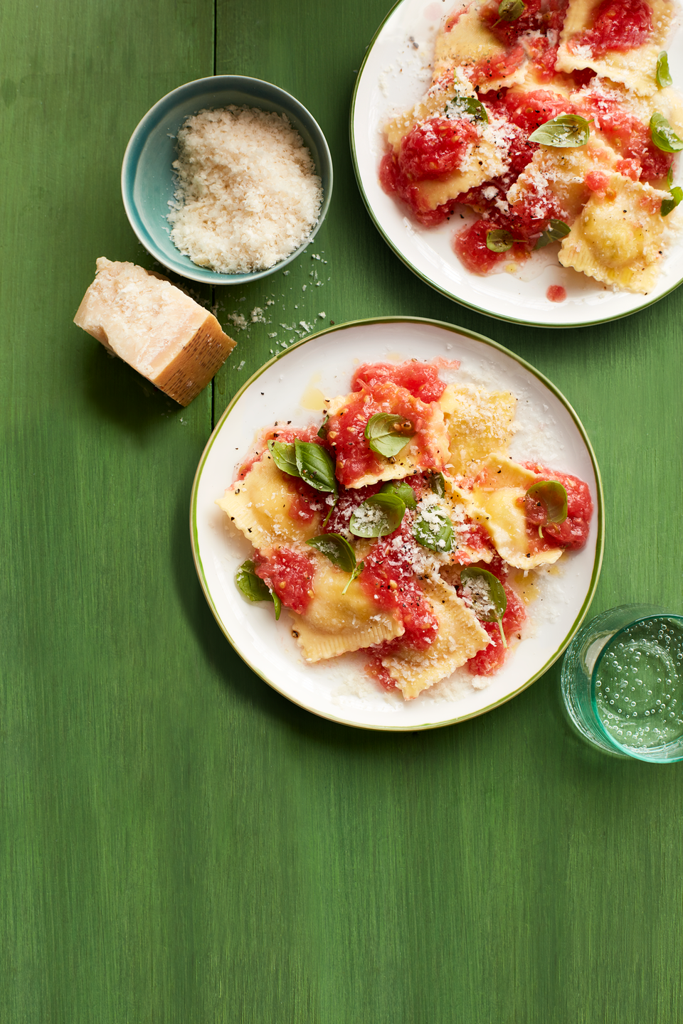 """<p>All the best hallmarks of Italian comfort food—ripe tomatoes, fresh basil, and plenty of cheese—ensure that this crowdpleaser belongs in your cold-weather dinner rotation. Even better, the whole thing comes in at less than $10 for four servings. </p><p><a href=""""https://www.prevention.com/food-nutrition/recipes/a33958993/ravioli-no-cook-tomato-sauce-recipe/"""" rel=""""nofollow noopener"""" target=""""_blank"""" data-ylk=""""slk:Get the recipe »"""" class=""""link rapid-noclick-resp""""><em><strong>Get the recipe <strong>»</strong></strong></em></a></p>"""