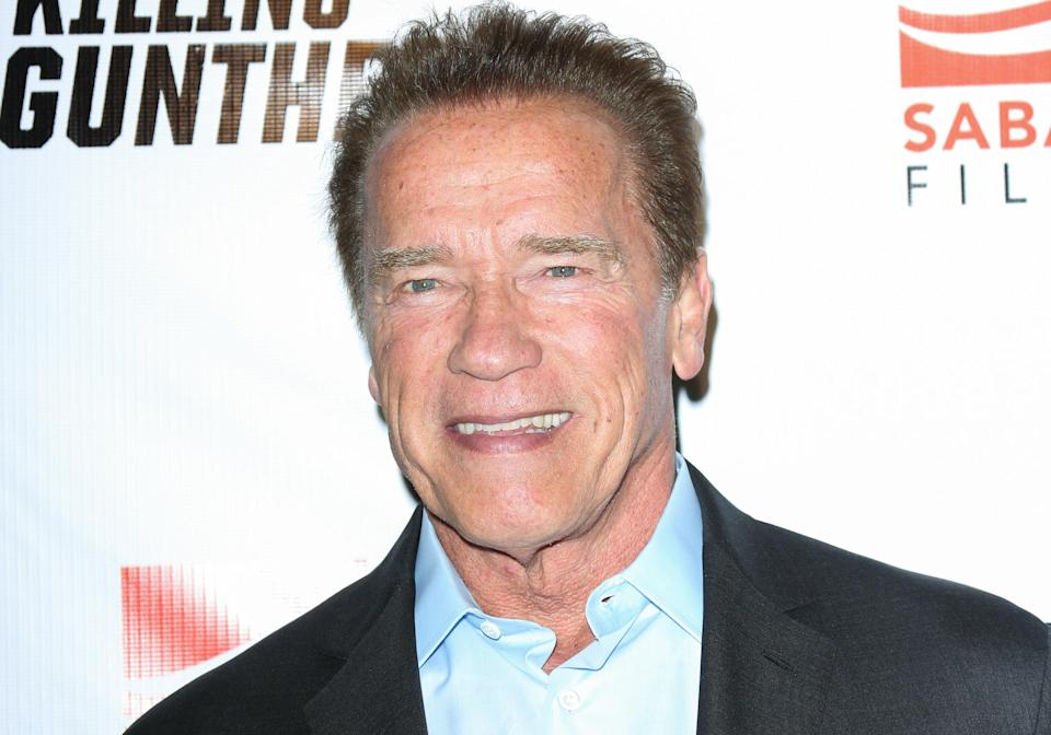 Arnold Schwarzenegger, pictured in 2017, has shared a photo from the set of the upcoming <em>Terminator</em> film featuring his longtime co-star Linda Hamilton. (Photo: Paul Archuleta/FilmMagic)