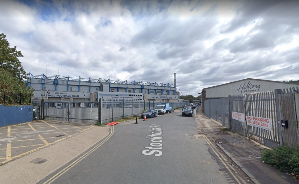 The rave happened in an industrial unit near Millwall FC