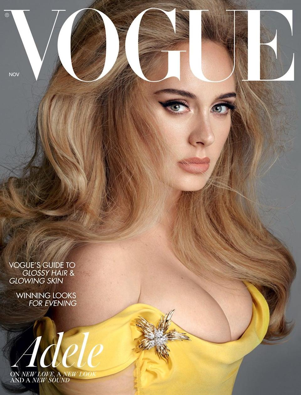 Adele says she got 'quite addicted' to working out. (British Vogue: Steven Meisel)
