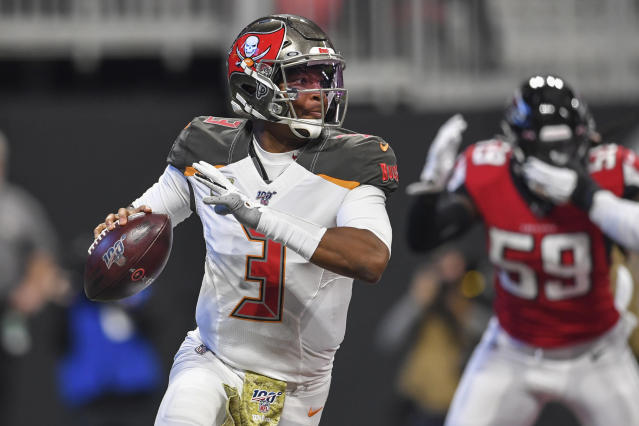 Jameis Winston in action. (Photo by Dale Zanine, USA TODAY Sports)