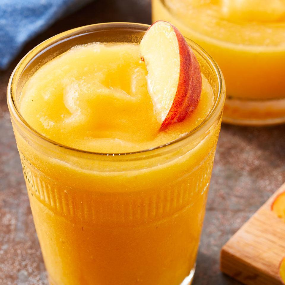<p>Enjoy sweet peach flavor anytime of year with this skinny frozen margarita. It tastes just like a restaurant version, but with less sugar, for an easy cocktail you will actually want to make at home.</p>