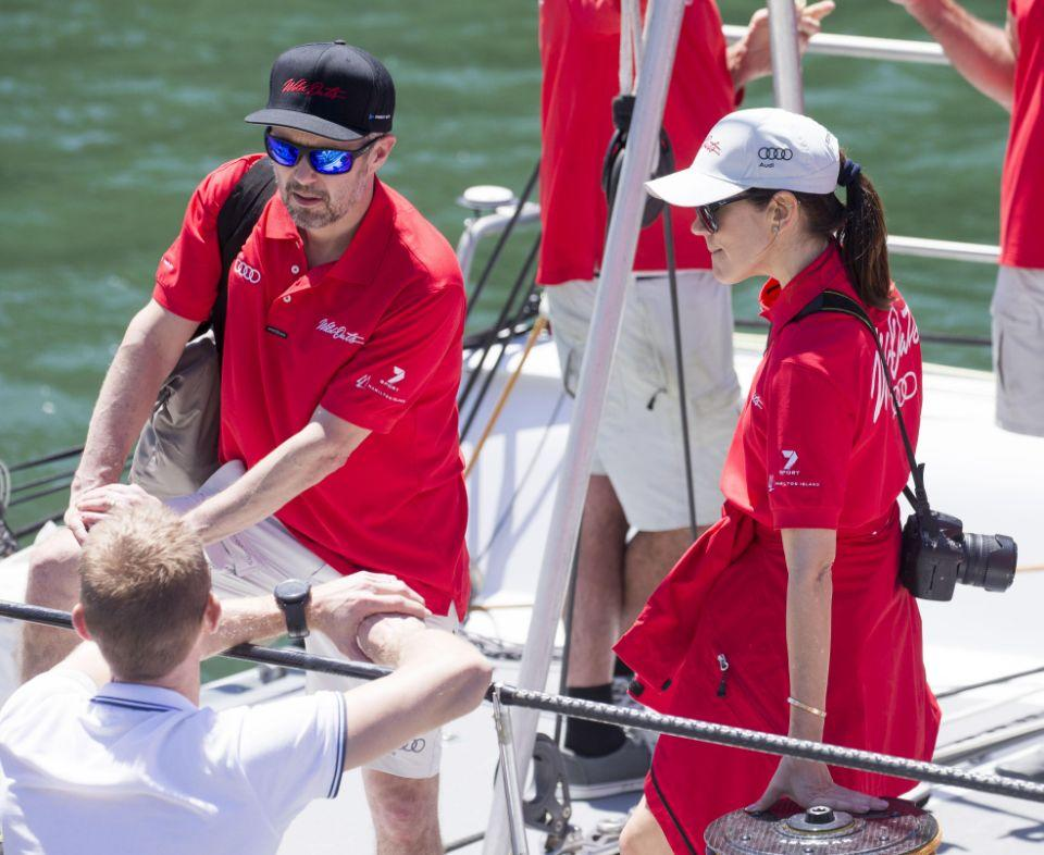 Princess Mary and Prince Frederik in Sydney Harbour. Photo: AAP