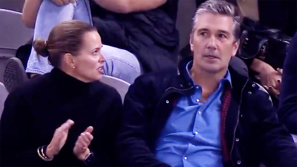 Jo and Stephen Silvagni, pictured here watching Jack play for Carlton.