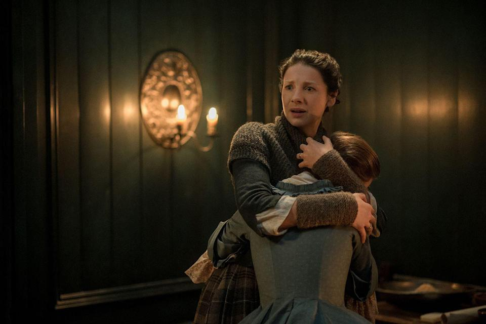 """<p>To recreate authentic lighting, L.E.D. and fluorescent lights <a href=""""https://www.vanityfair.com/hollywood/2016/10/inside-outlanders-hunt-for-claire-fraser"""" rel=""""nofollow noopener"""" target=""""_blank"""" data-ylk=""""slk:are not used on the show."""" class=""""link rapid-noclick-resp"""">are not used on the show.</a></p>"""