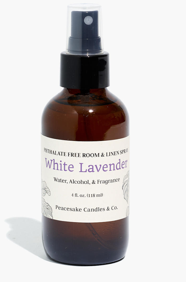 """<h3><a href=""""https://www.madewell.com/peacesake-candles-amp%3B-co.reg%3B-white-lavender-room-and-linen-spray-M6223.html"""" rel=""""nofollow noopener"""" target=""""_blank"""" data-ylk=""""slk:Peacesake Candles & Co. White Lavender Room and Linen Spray"""" class=""""link rapid-noclick-resp"""">Peacesake Candles & Co. White Lavender Room and Linen Spray</a></h3><br>This earth-friendly, relaxing room spray will freshen up any space (or even the inside of a <a href=""""https://www.refinery29.com/en-us/2020/04/9648455/where-to-buy-face-masks-coronavirus"""" rel=""""nofollow noopener"""" target=""""_blank"""" data-ylk=""""slk:face mask"""" class=""""link rapid-noclick-resp"""">face mask</a>!) with the combined — and divine — aroma of lavender, bergamot and eucalyptus, cypress pine and birch. <br><br><strong>Peacesake Candles & Co.</strong> White Lavender Room and Linen Spray, $, available at <a href=""""https://go.skimresources.com/?id=30283X879131&url=https%3A%2F%2Fwww.madewell.com%2Fpeacesake-candles-amp%253B-co.reg%253B-white-lavender-room-and-linen-spray-M6223.html%3Fcolor%3DWC6066"""" rel=""""nofollow noopener"""" target=""""_blank"""" data-ylk=""""slk:Madewell"""" class=""""link rapid-noclick-resp"""">Madewell</a>"""