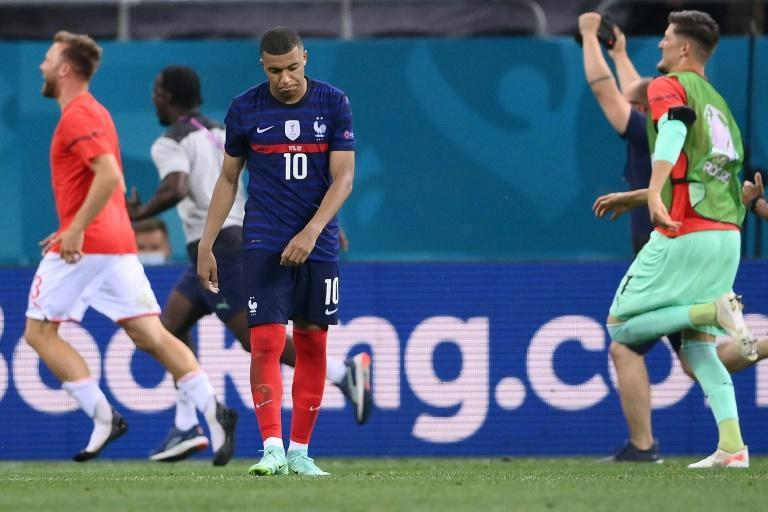 Kylian Mbappe missed the crucial penalty as France were knocked out of Euro 2020 by Switzerland