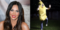 """<p>Like Brad Pitt before her, Megan Fox also had a brief stint as a professional wearer of a dumb costume. In Megan's case, it was a <a href=""""http://money.cnn.com/gallery/news/companies/2015/05/07/celebrities-first-jobs-james-franco/5.html"""" rel=""""nofollow noopener"""" target=""""_blank"""" data-ylk=""""slk:banana outfit"""" class=""""link rapid-noclick-resp"""">banana outfit</a>, which she wore to promote a smoothie shop. </p>"""