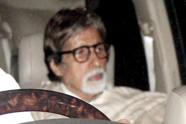 Amitabh Bachchan arrives for the ceremony