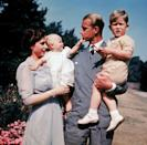 <p>The first color photograph of Queen Elizabeth and Prince Philip with their children Princess Anne and Prince Charles on New Years Day in 1951.</p>