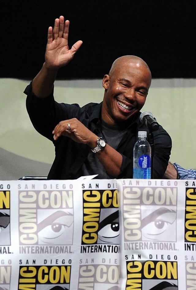 "SAN DIEGO, CA - JULY 18: Actor Erik King speaks onstage at Showtime's ""Dexter"" panel during Comic-Con International 2013 at San Diego Convention Center on July 18, 2013 in San Diego, California. (Photo by Kevin Winter/Getty Images)"