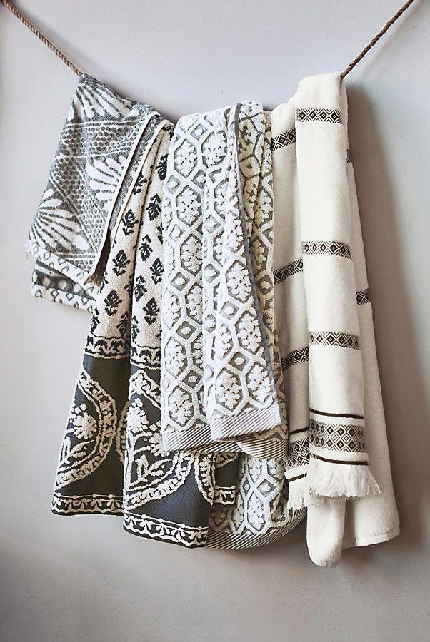 """Add some flair toyour bathroom with decorative hand towels. Get them <a href=""""https://www.anthropologie.com/shop/tarren-towel-collection?category=SEARCHRESULTS&color=004&quantity=1&size=Hand%20Towel&type=REGULAR"""" target=""""_blank"""">here</a>, $18."""