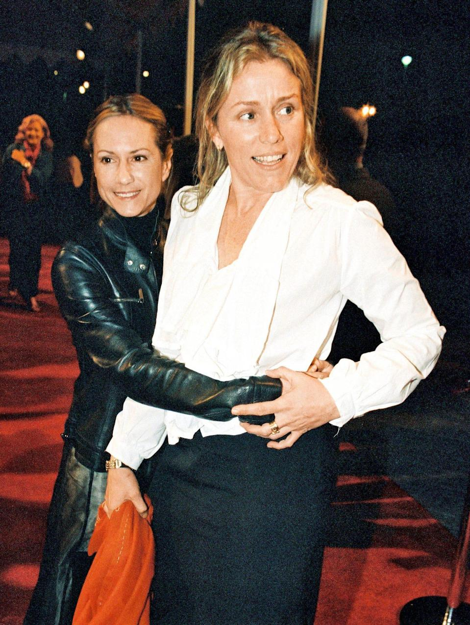"""<p>The actress and Frances McDormand (here in 2000) first met on a trip to Yale in 1981 and later became roommates in the Bronx. """"We stayed there for a couple of years and then went out to Silver Lake in Los Angeles and rented a place together. We're still buddies,"""" says Hunter.</p>"""