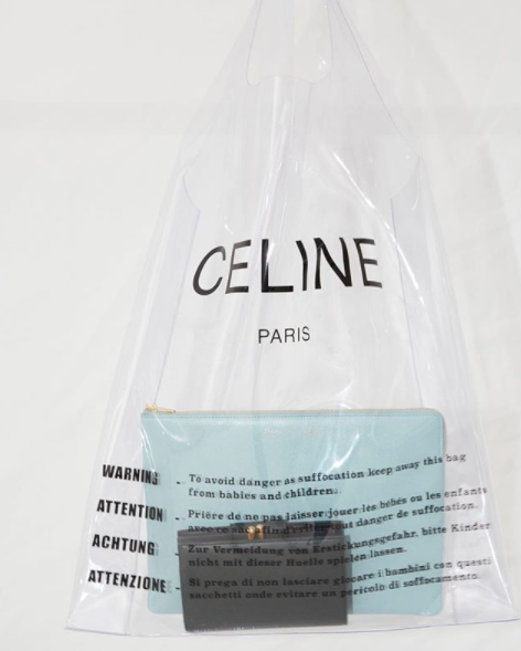 "<p>In the market for a new designer bag? Take things to a whole new level of indulgent with French brand Céline's newest offering: a plastic bag that will set you back $750. The bag mimics an actual plastic bag with it's ""To avoid danger as suffocation keep away this bag from babies and children"" warning, and will be on sale in May.</p>"