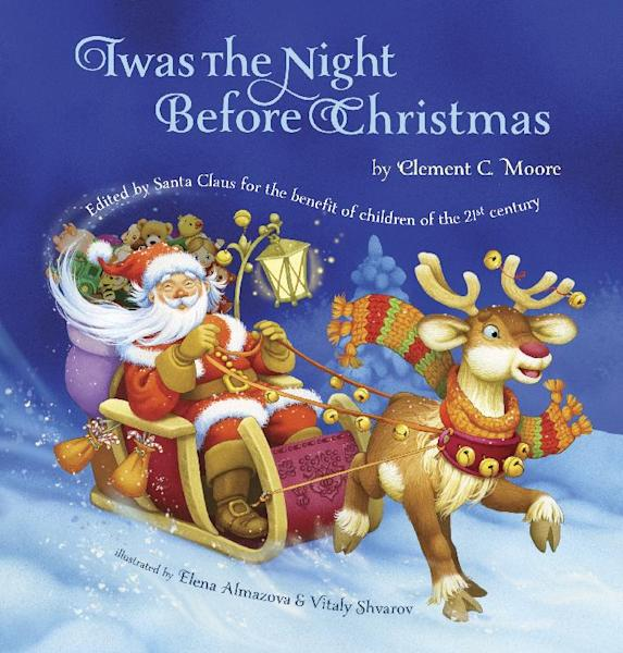 """This book cover image released by Grafton and Scratch Publishers shows """"Twas the Night Before Christmas,"""" by Clement C. Moore. This new version of """"Twas the Night Before Christmas"""" has eliminated all references to a smoking Santa. (AP Photo/Grafton and Scratch Publishers)"""
