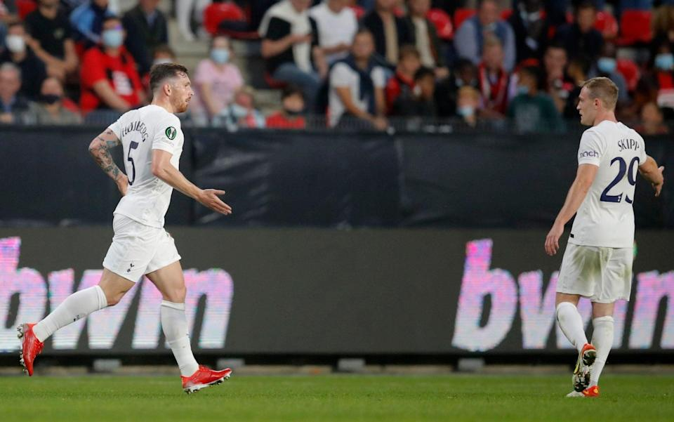 Pierre-Emile Hojbjerg's equaliser grabs point for injury-hit Tottenham at lively Rennes - REUTERS