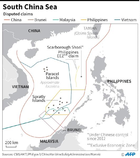 The Philippines plans to construct a quay on Thitu island in the South China Sea (AFP Photo/AFP )