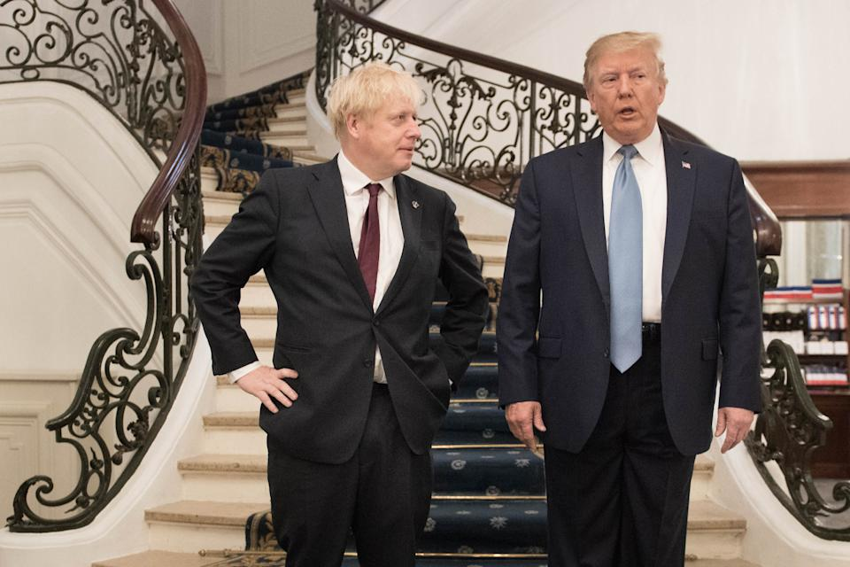 Prime Minister Boris Johnson meeting US President Donald Trump for bilateral talks during the G7 summit in Biarritz, France.