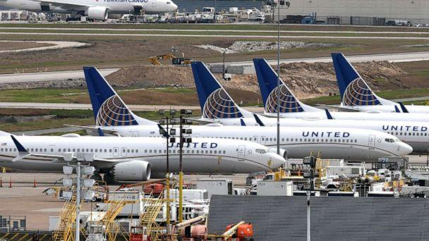 FILE PHOTO: United Airlines planes are pictured at George Bush Intercontinental Airport in Houston, on March 18, 2019. (Loren Elliott/Reuters, File)