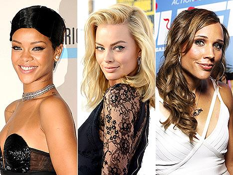Music star Rihanna, actress Margot Robbie and Olympic athlete Lolo Jones join AskMen's 99 Most Desirable Women list
