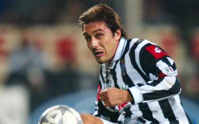<span>Conte in his playing days at Juventus</span> <span>Credit: Getty Images </span>