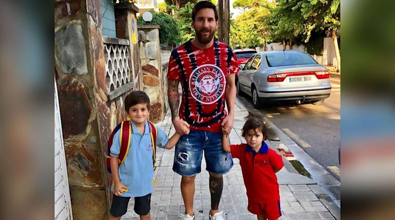 Father's Day 2020: Lionel Messi's Photos With His Sons Thiago, Ciro and Mateo That Tells You Why He Is One of Sporting World's Coolest Dads