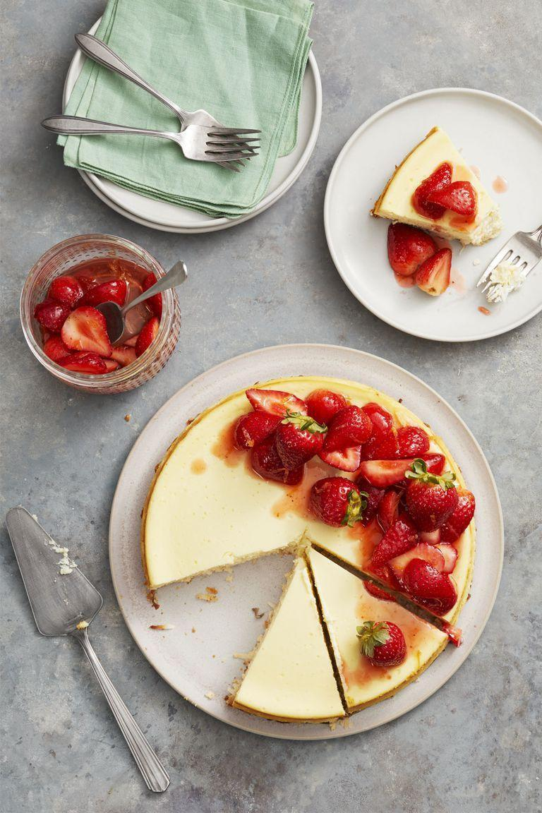 """<p>The gluten-free crust, made with a sugar and coconut mixture, gives this fruity dessert an added layer of sweet flavor. </p><p><em><a href=""""https://www.goodhousekeeping.com/food-recipes/dessert/a26783658/strawberry-coconut-crust-cheesecake-recipe/"""" rel=""""nofollow noopener"""" target=""""_blank"""" data-ylk=""""slk:Get the recipe for Strawberry Coconut-Crust Cheesecake »"""" class=""""link rapid-noclick-resp"""">Get the recipe for Strawberry Coconut-Crust Cheesecake »</a></em></p>"""