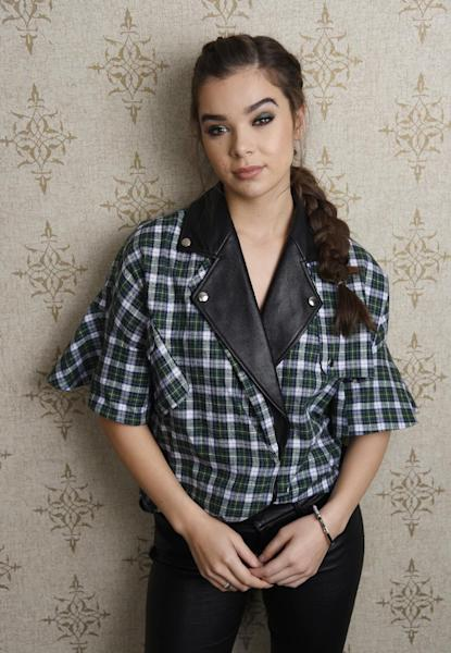 """In this Sept. 10, 2016 photo Hailee Steinfeld, a cast member in the film """"The Edge of Seventeen,"""" poses for a portrait at the Park Hyatt Hotel in Toronto. The film opens nationwide on Nov. 18. (Photo by Chris Pizzello/Invision/AP)"""