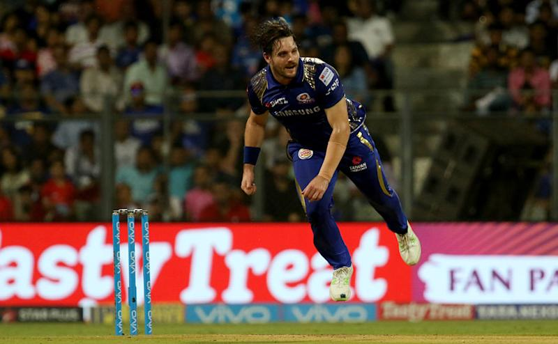 Mitchell McClenaghan had an uphill task of defending 17 runs off the last over and he achieved that with flying colours, celebrating the win with three push ups in the end. Sportzpics